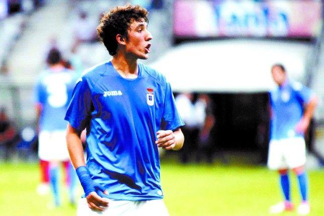 Cerrajería en su época como jugador del Real Oviedo