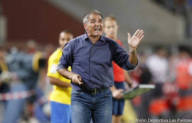 Paco Herrera en su anterior etapa en la UD Las Palmas