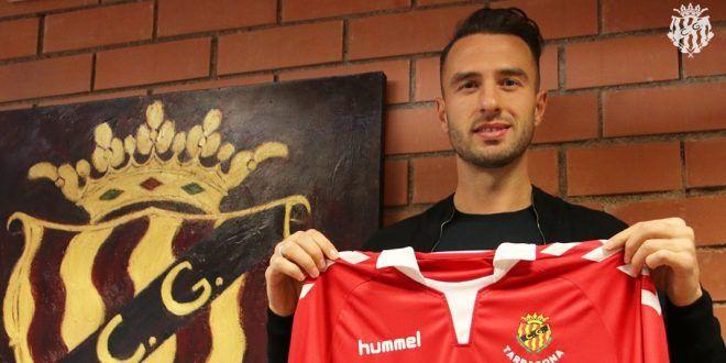 Berat Sadik solo marcó un gol con la camiseta grana. | Foto: gimnasticdetarragona.cat