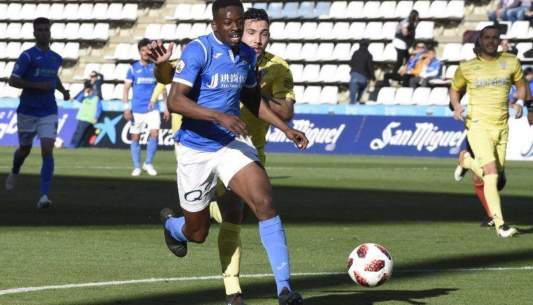 Lance del partido entre el Lleida y la SD Ejea