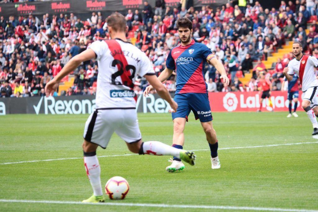 Lance del encuentro en el Estadio de Vallecas (Foto: SD Huesca)