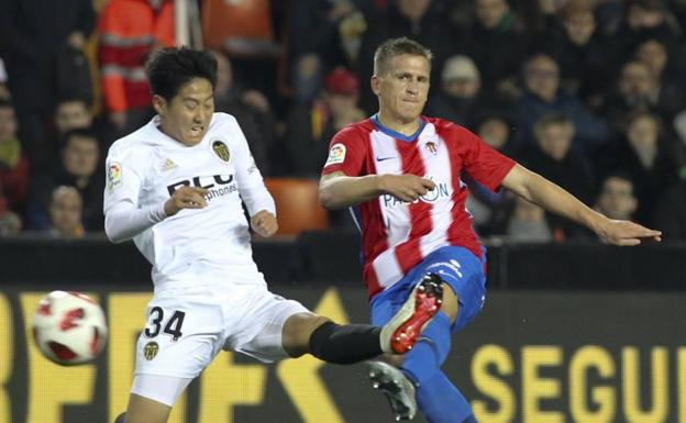 Kangin Lee en Copa del Rey frente al Sporting
