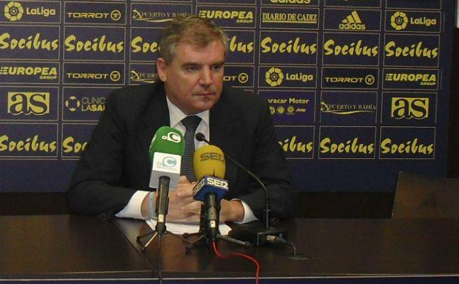 Manuel Vizcaíno en una imagen de archivo confirmo el ingreso de los 500.000 € (Fuente: Cádiz CF)