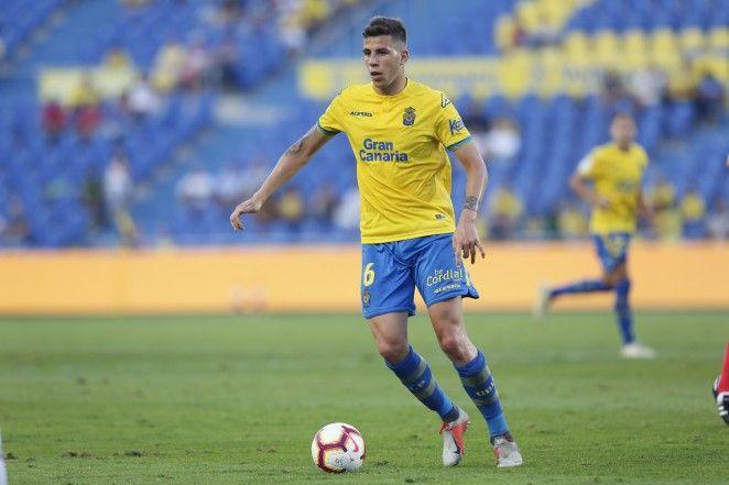 Christian Rivera en un partido en temporadas anteriores con la UD Las Palmas