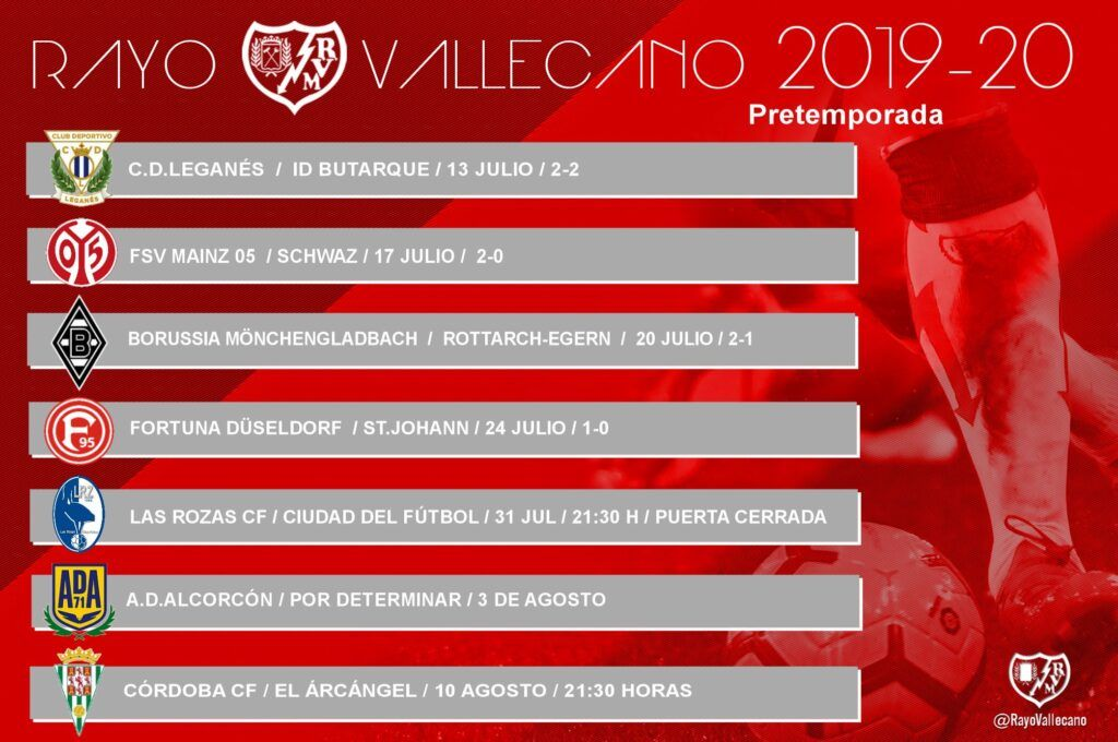 Pretemporada del Rayo Vallecano