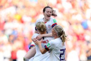 Rose Lavelle celebrando el gol que marcó ante Países Bajos en la final del Mundial. | Foto: FIFA