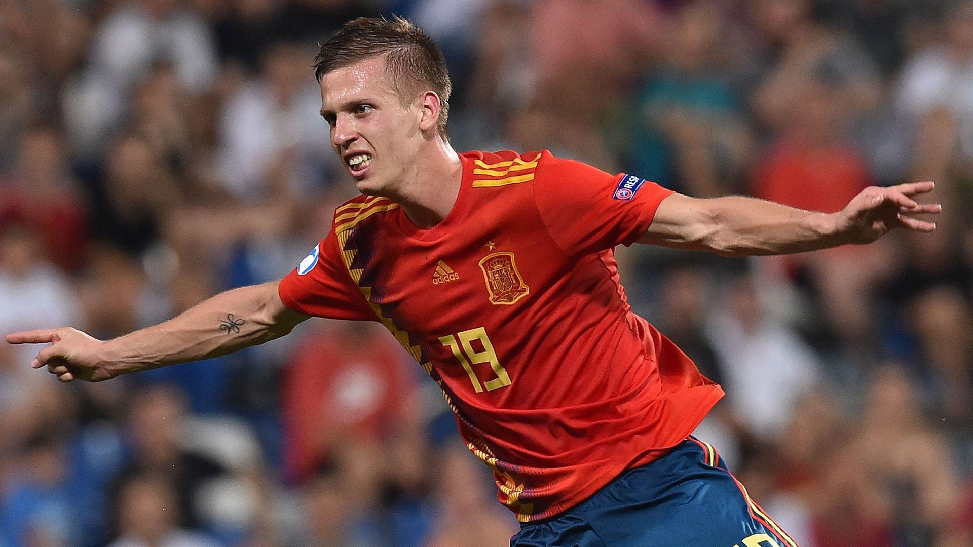 Dani Olmo celebra un gol en el Europeo sub.21 el pasado Junio