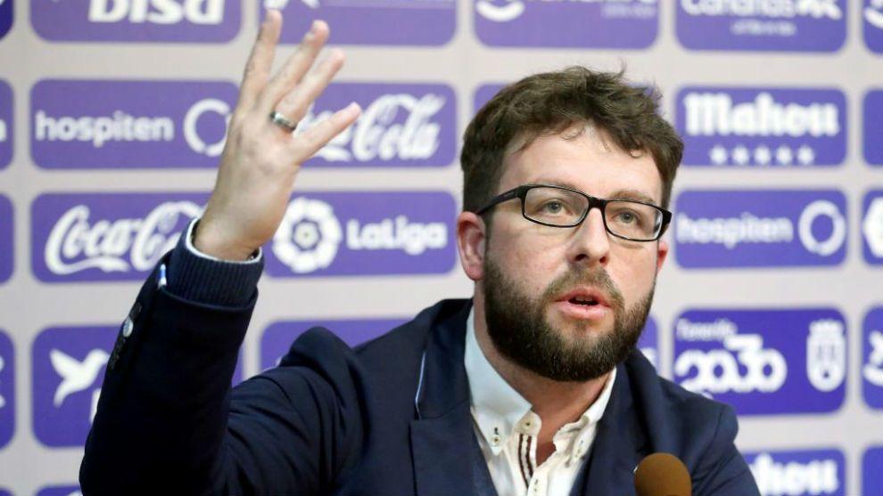 Víctor Moreno en su etapa como director deportivo del CD Tenerife