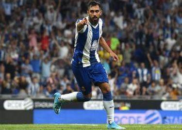 Borja Iglesias celebra un gol con el Espanyol frente al Stjarnan