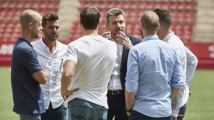 El cuerpo técnico del Girona FC