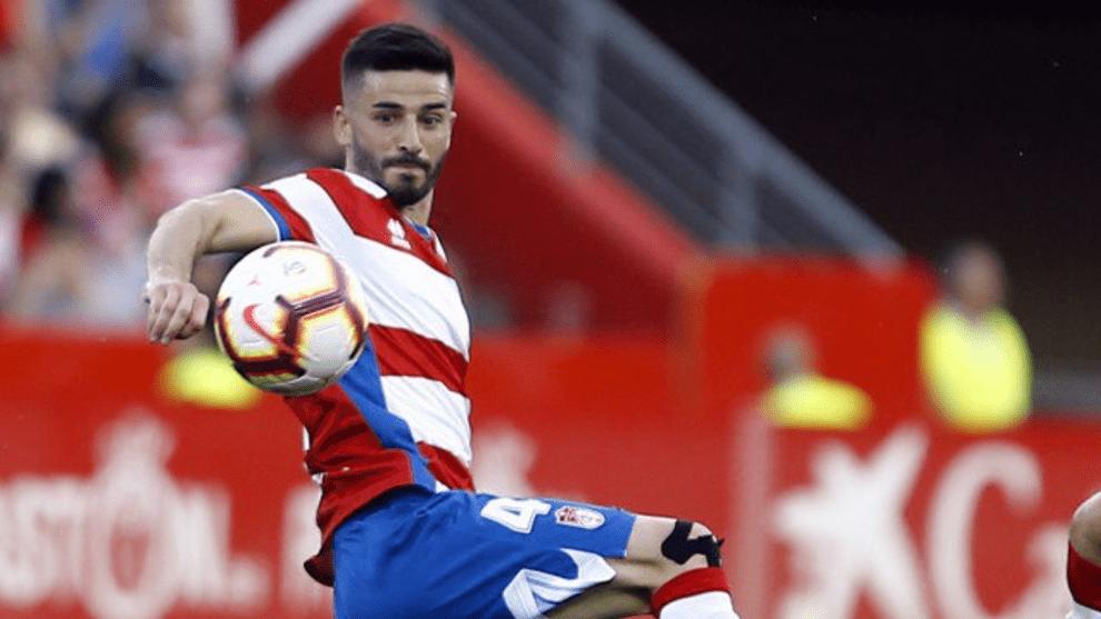 Fran Rico en el último partido de la pasada temporada con el Granada