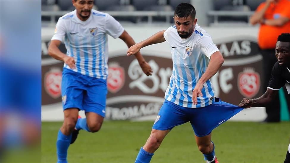 Michael Santos en su primer año con el Málaga