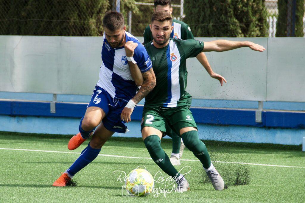 Lance del juego entre el Ebro y Espanyol 'B' la pasada jornada