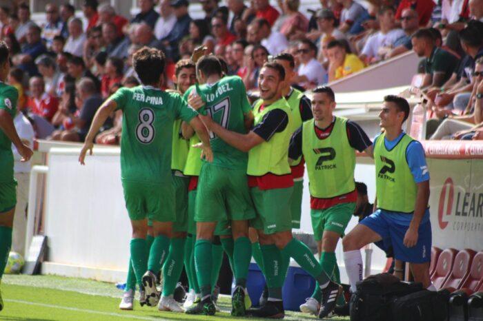 Los jugadores del Cornellá celebrando un gol la pasada jornada en Tarragona