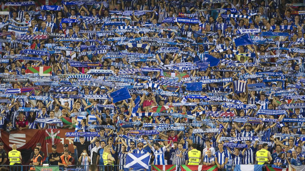 Instantánea de la afición del Deportivo Alavés