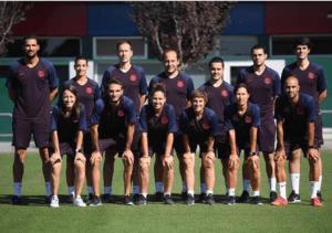 Equipo técnico del FC Barcelona Femení. | Foto: @FCBFemeni