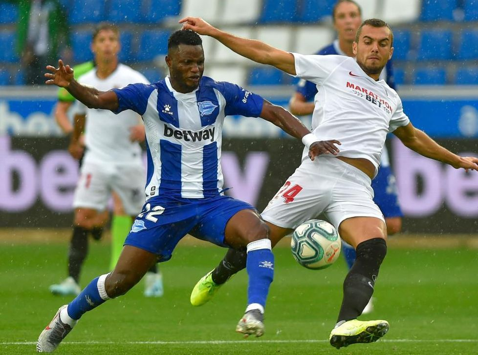 Wakaso en el partido frente al Sevilla