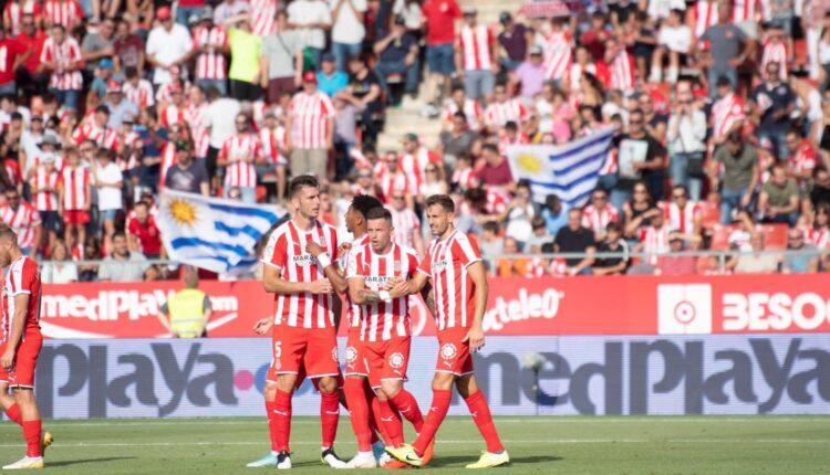 Christian Stuani, principal amenaza gerundense, celebrando un gol