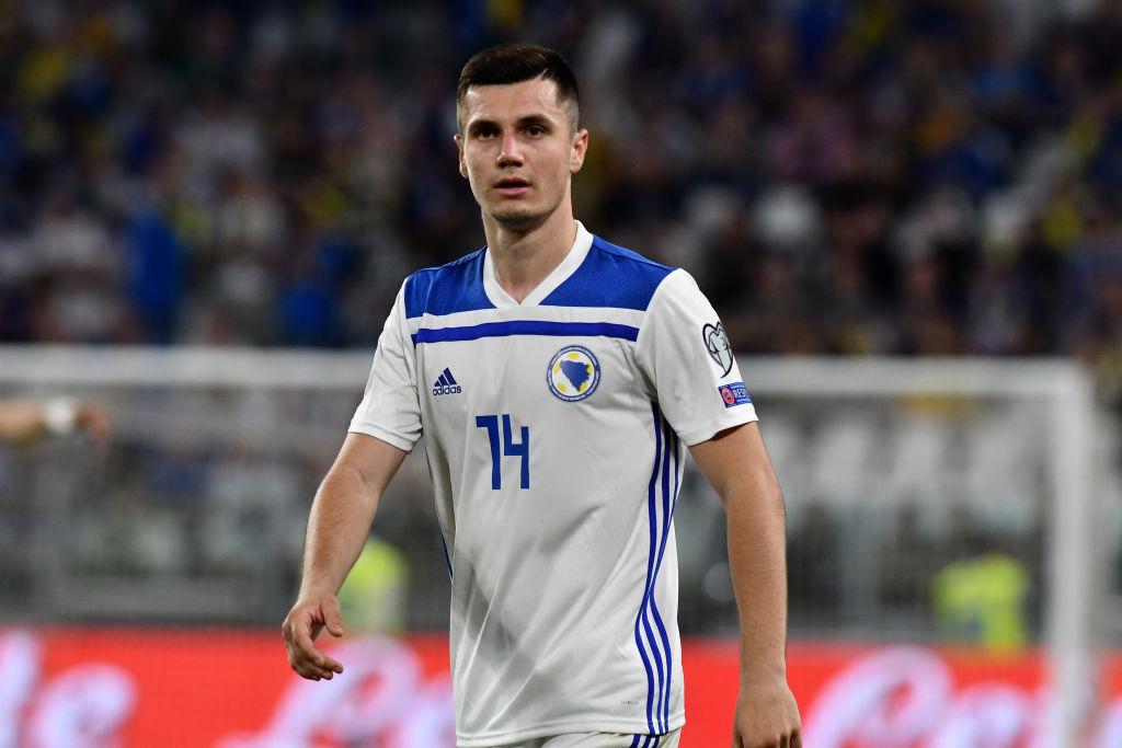 Amer Gojak of Bosnia and Herzegovina during the 2020 UEFA