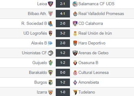 Resultados de la Jª10 en el grupo II de Segunda División 'B'