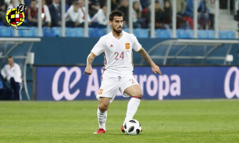 Suso en un encuentro con la Selección Española