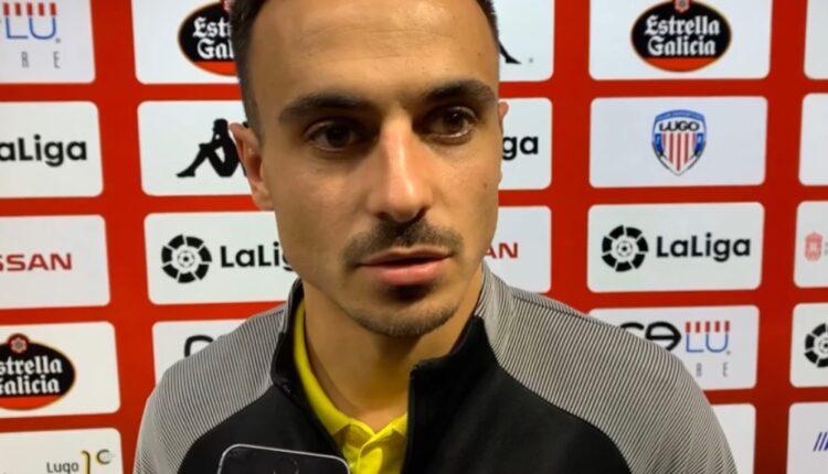 Álvaro García tras el encuentro en Lugo