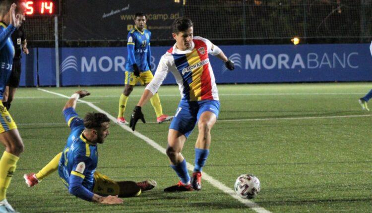 Imagen del partido copero disputado por el Andorra