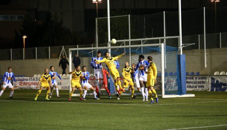 Imagen del último partido de la SD Ejea frente al CF Badalona