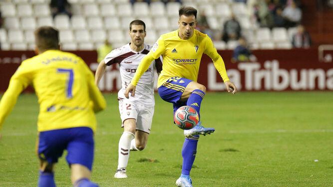 Jurado en el partido que disputó el Cádiz en el Carlos Belmonte