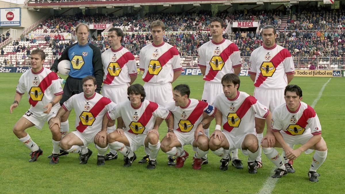 Un once del Rayo Vallecano aquella temporada