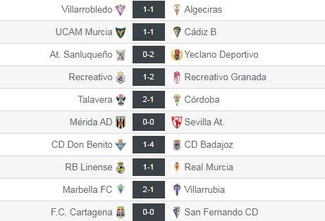 Resultados de la jornada 11 en el grupo IV de Segunda División 'B'