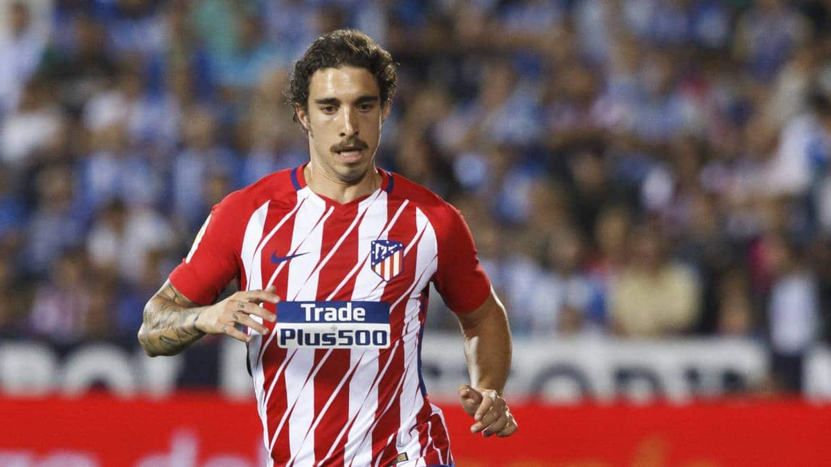Sime Vrsaljko en un partido con el Atlético de Madrid