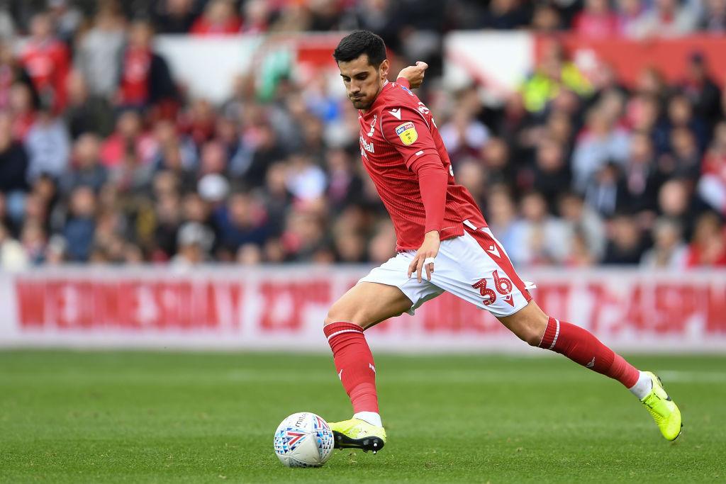 Chema Rodriguez en un encuentro entre el Nottingham Forest y el Brentford el pasado 5 de octubre