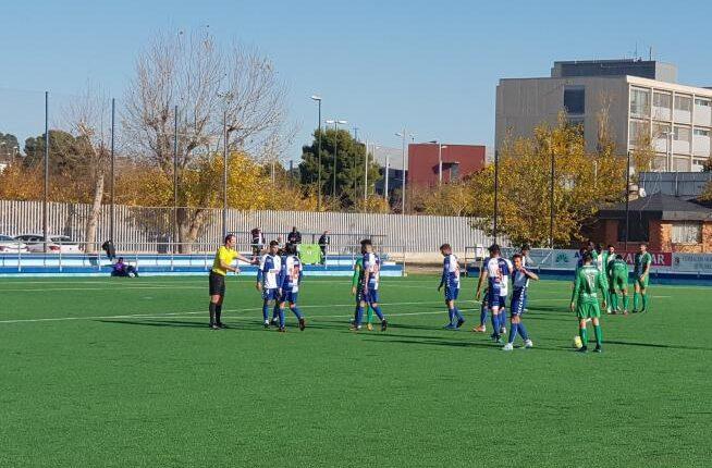 Imagen del partido entre el Ebro y el Cornellá.