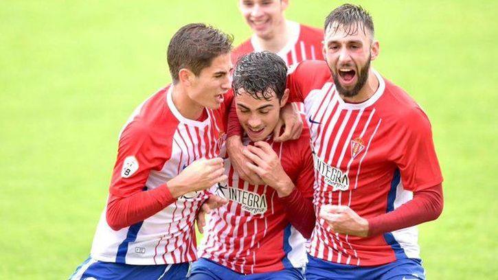 Garci celebra un gol en Mareo frente a Las Rozas