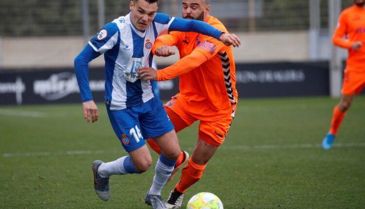 Lance del juego Espanyol 'B' - Ebro de la pasada jornada