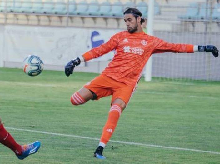 José Antonio Caro en un partido con el Real Valladolid
