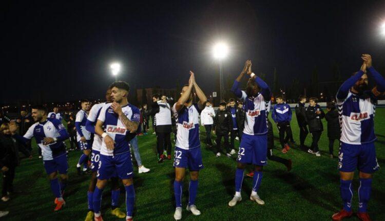 Celebración del Ebro al pasar de ronda en la Copa Del Rey.