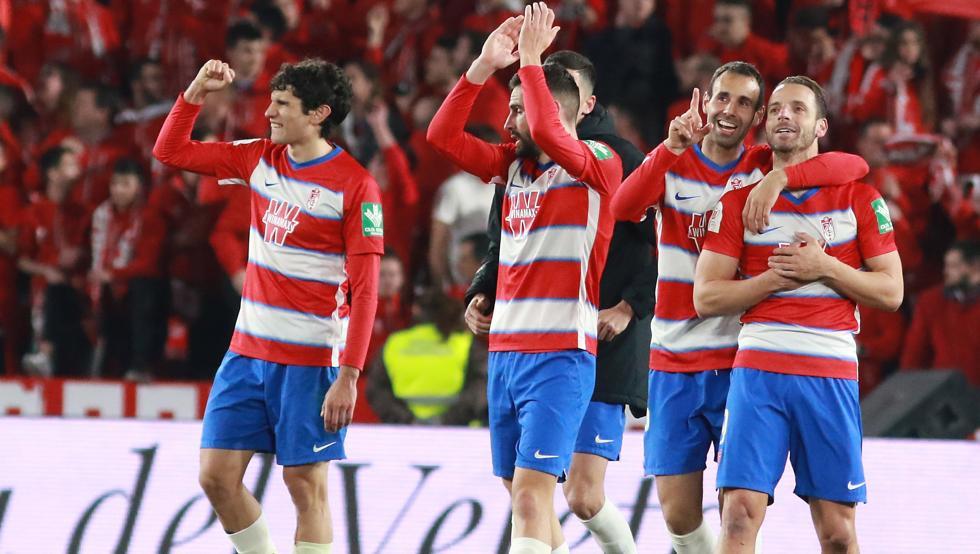 Granada celebra pase a semifinales de la Copa