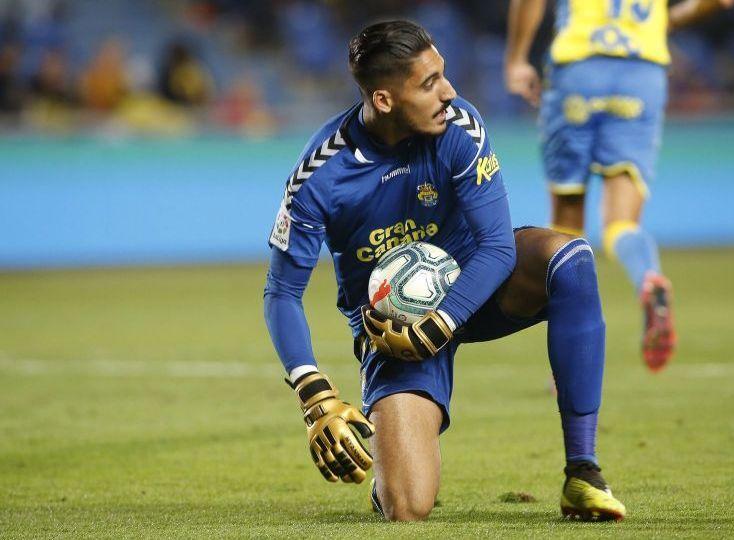 Álvaro Valles en un partido con la UD Las Palmas