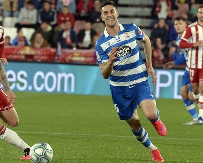 Sabin Merino en el partido de Almería