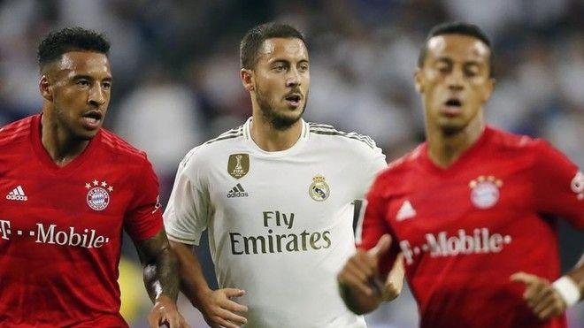 Eden Hazard en un partido del Real Madrid frente al Bayern