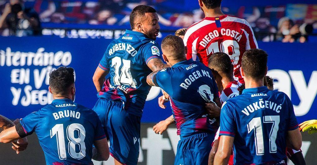 El Levante empató en última visita del Atlético y lleva cuatro sin ganar