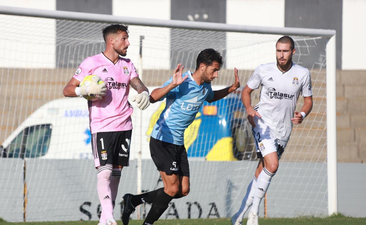 Marc Martinez en un partido con el FC Cartagena