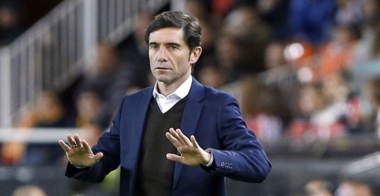 Marcelino García Toral en un partido con el Valencia