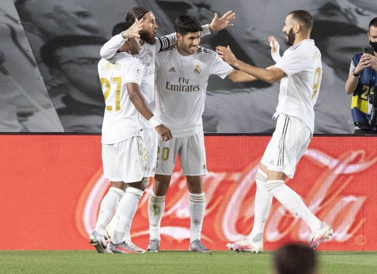 Celebración del gol del Real Madrid frente al Getafe