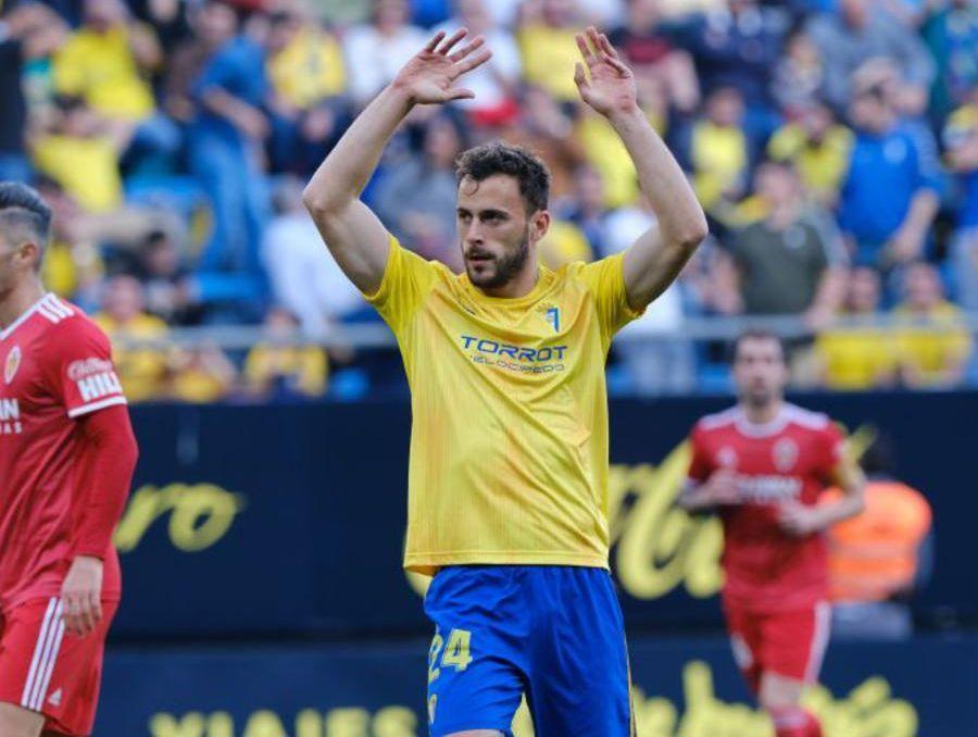 Filip Malbasic en el encuentro frente al Real Zaragoza
