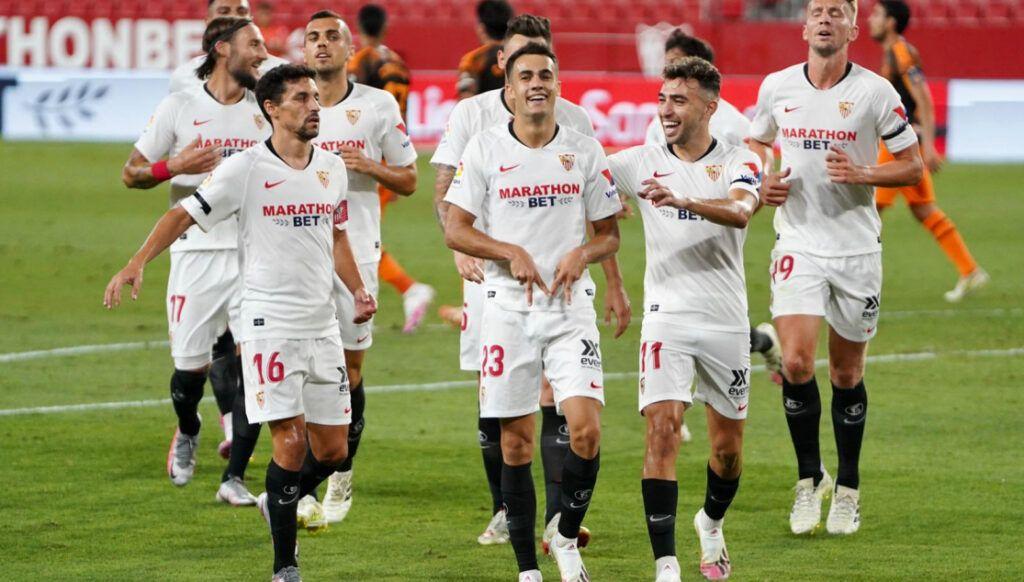 Reguilon celebra su segundo gol en liga| Sevillafc.com