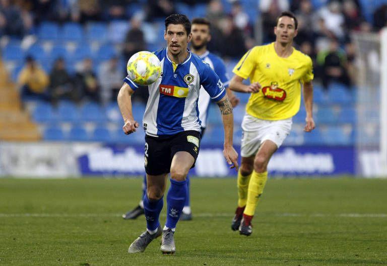 Yeray González en un partido con el Hércules