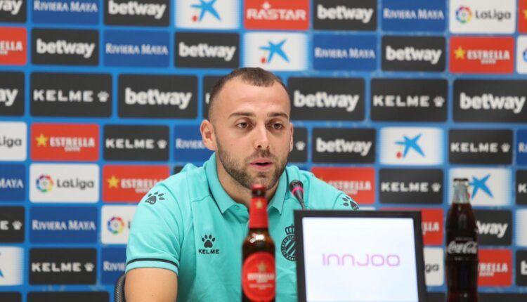 Keidi Bare en su presentación como jugador del Espanyol